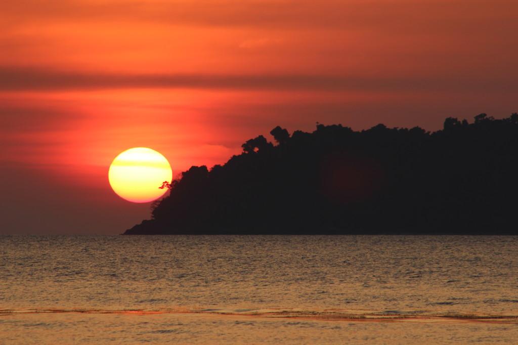 закат на ко чанге таиланд