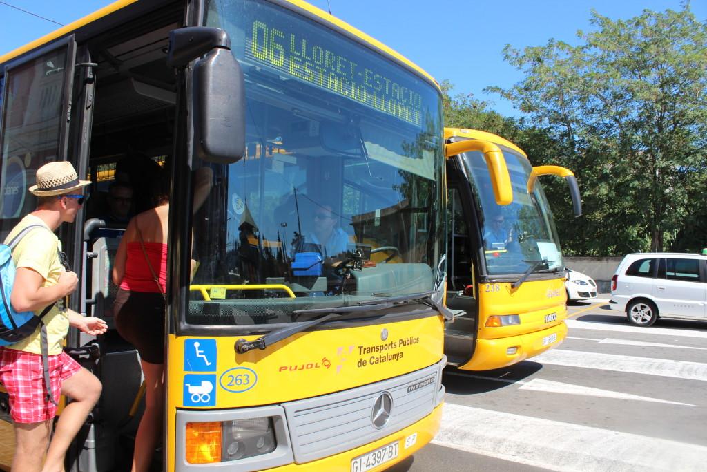 автобус до Льорет де мар