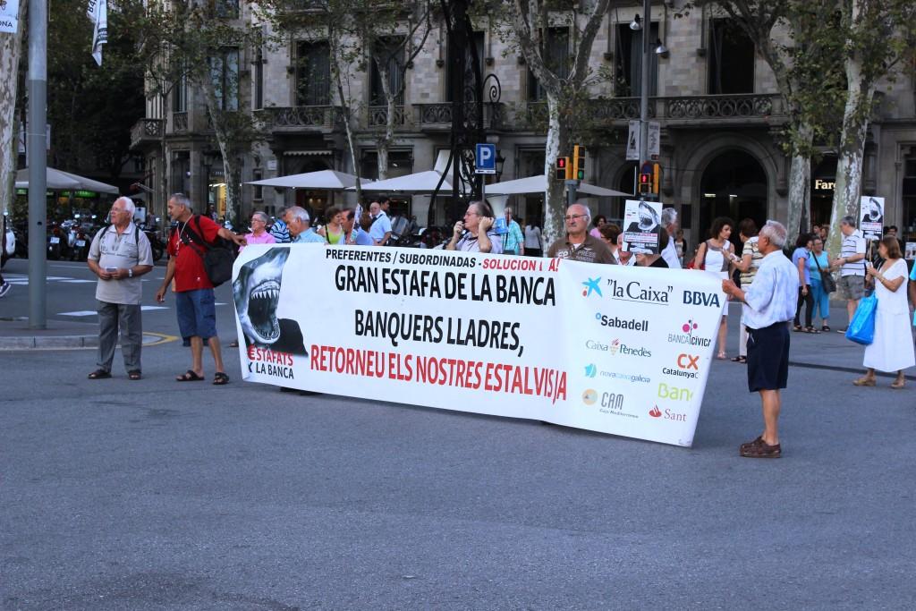 демонстрация против банков