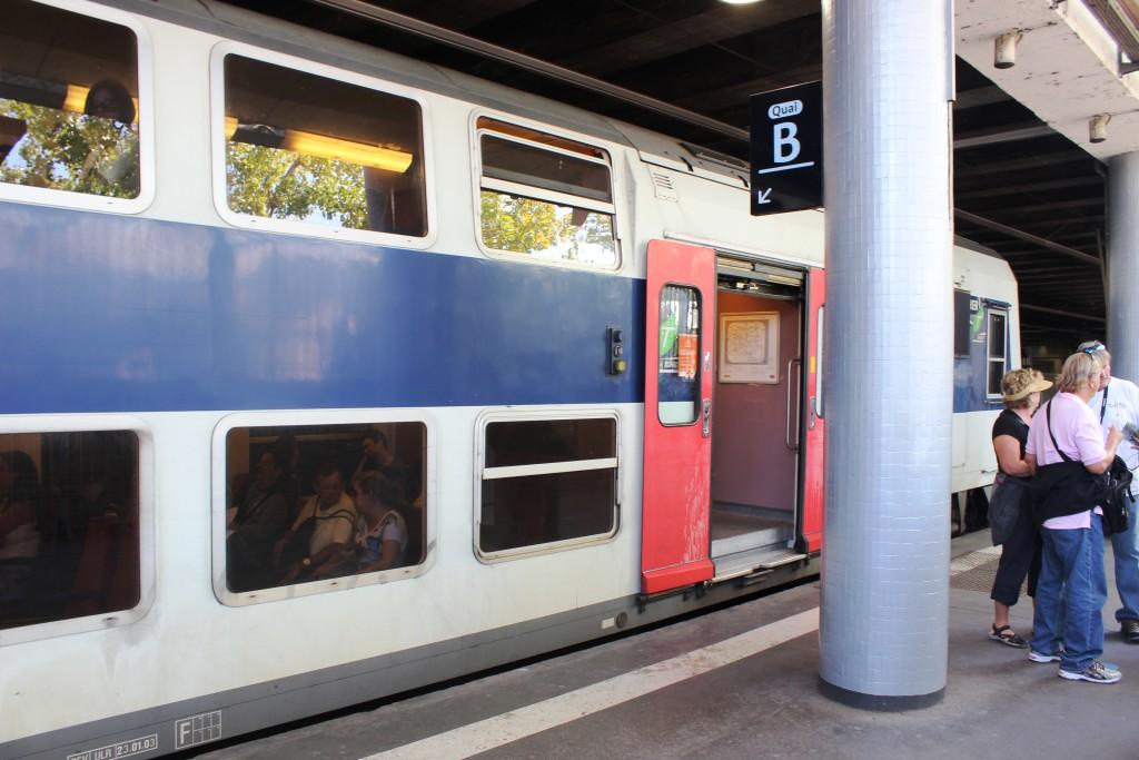 двухэтажный поезд, поезд франция, электричка